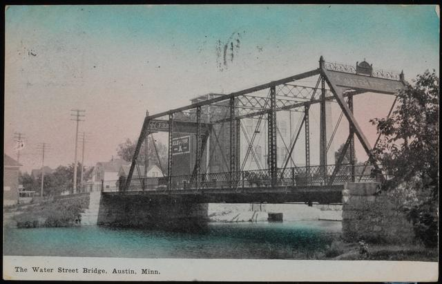 1910 pic of the old Water Street Bridge (present-day 4th Ave NE)