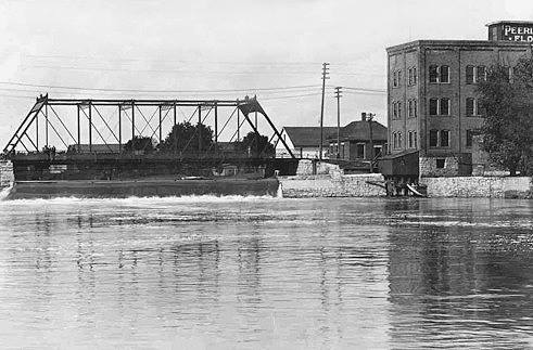 E. Water St. Bridge and Campbell Mill Austin, Mn