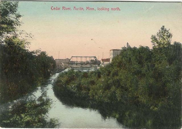 Cedar River Looking North Austin, Mn