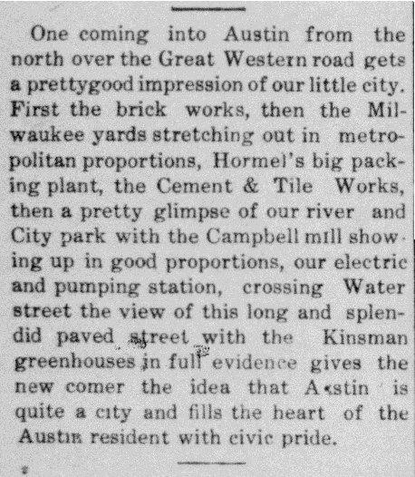 1908 Austin article - September 19th
