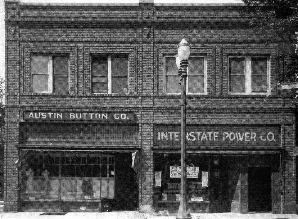 1929 Austin Button Co. and Interstate Power Co. (130 W. Mill St.)