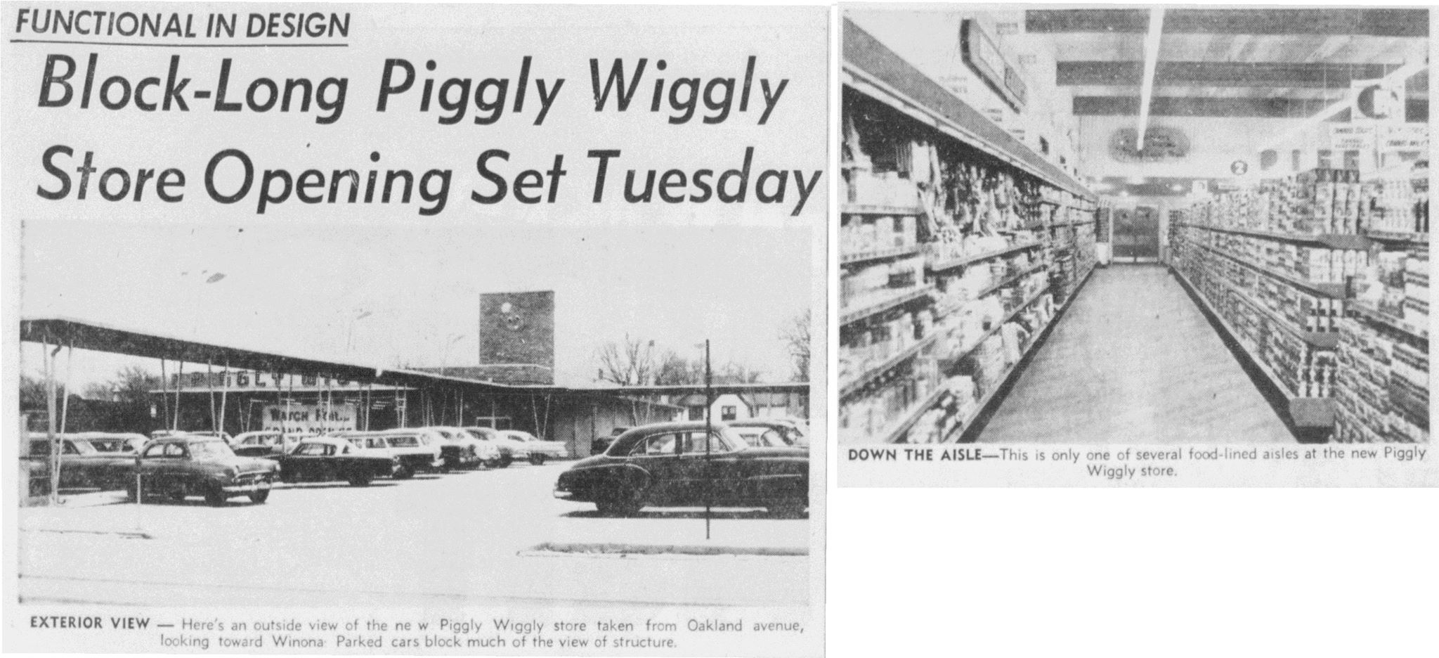 1958 Piggly Wiggly article - January 20th