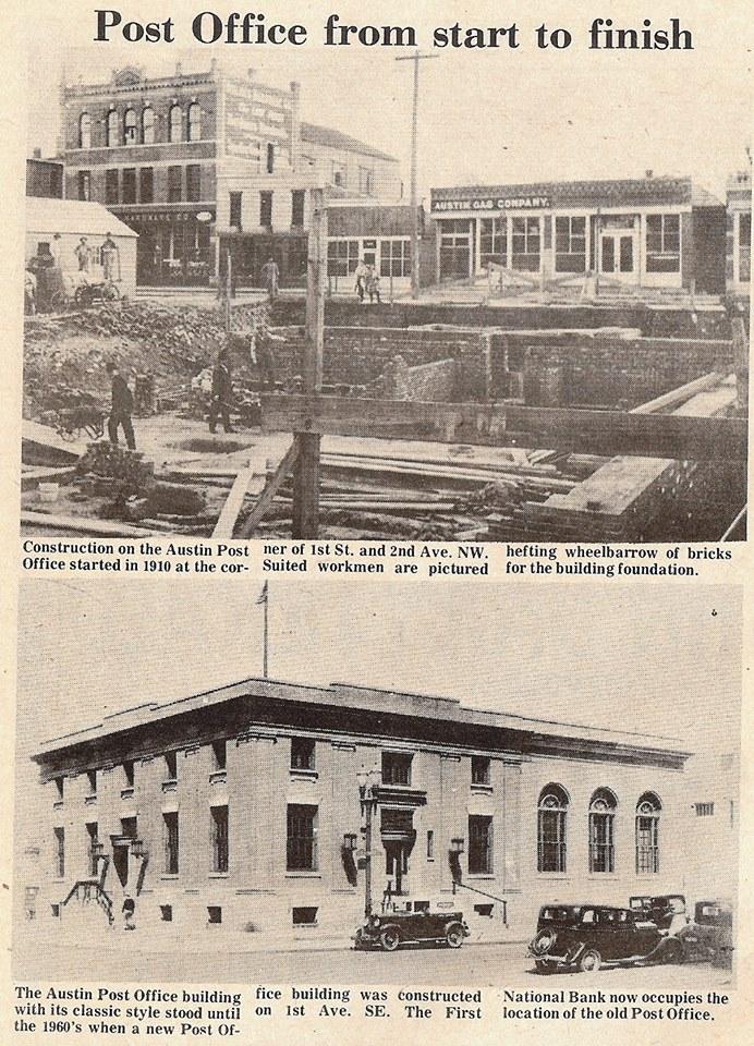 Austin Post Office construction.