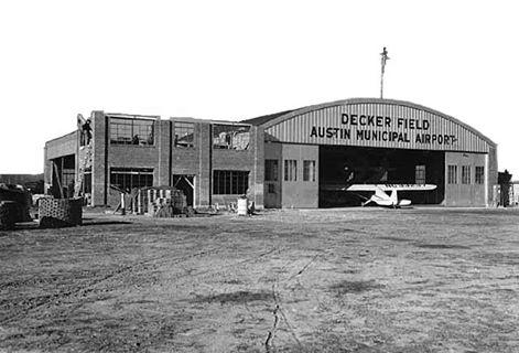Constructing the airport hangar addition - 1940