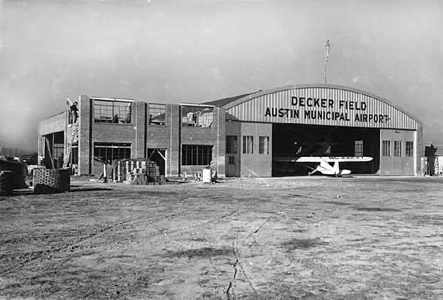 Constructing the airport hangar addition - 1940 Austin, Mn