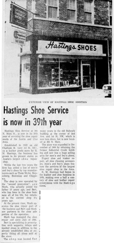 Hastings Shoes 1971 Austin, Mn