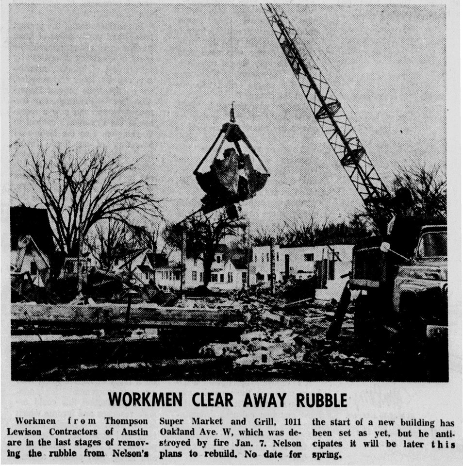 Nelson's Super Market Clean Up article - March 24th, 1967