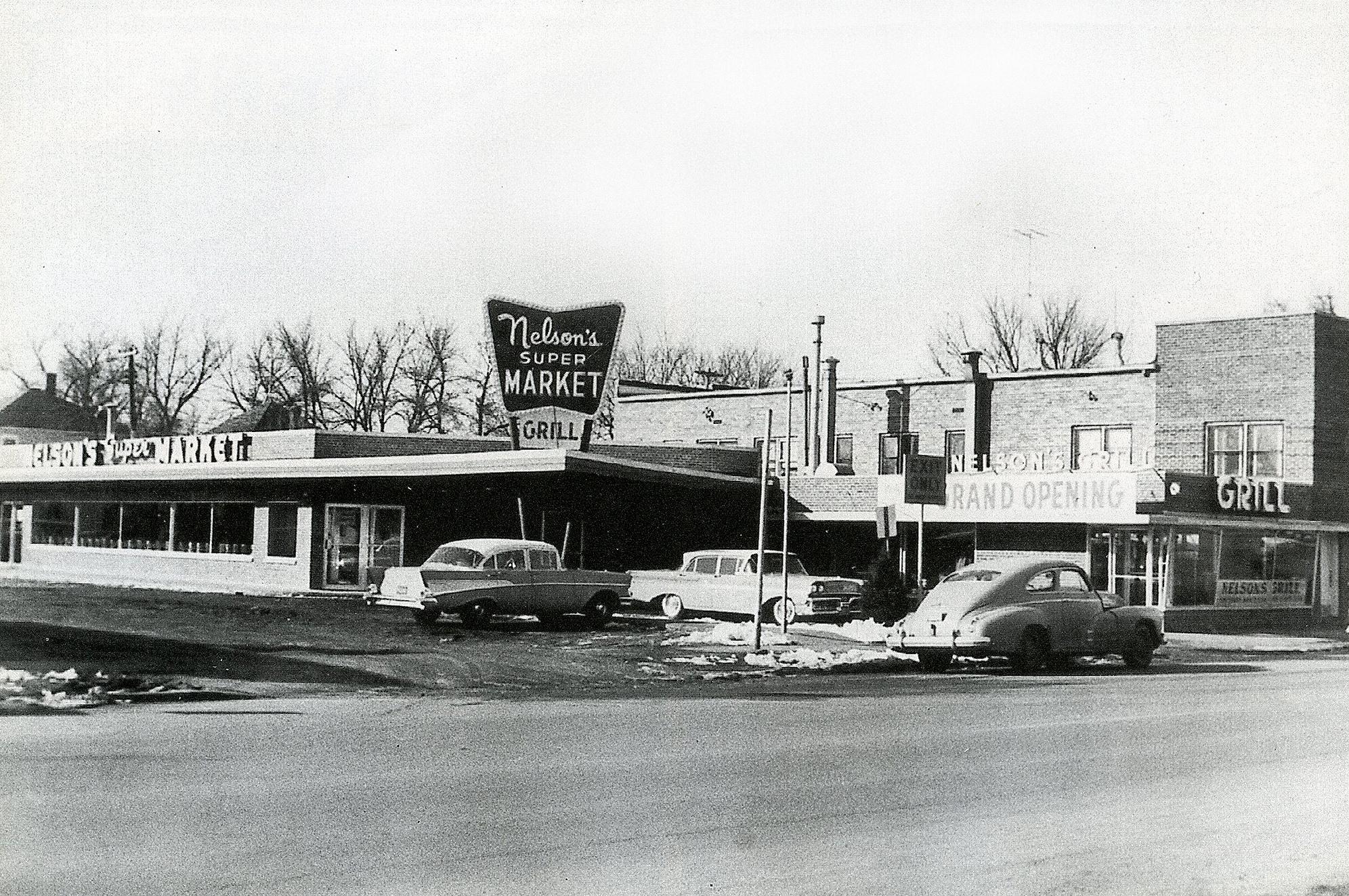Nelson's Super Market & Grill burned on Jan. 7th 1969 Austin, Mn
