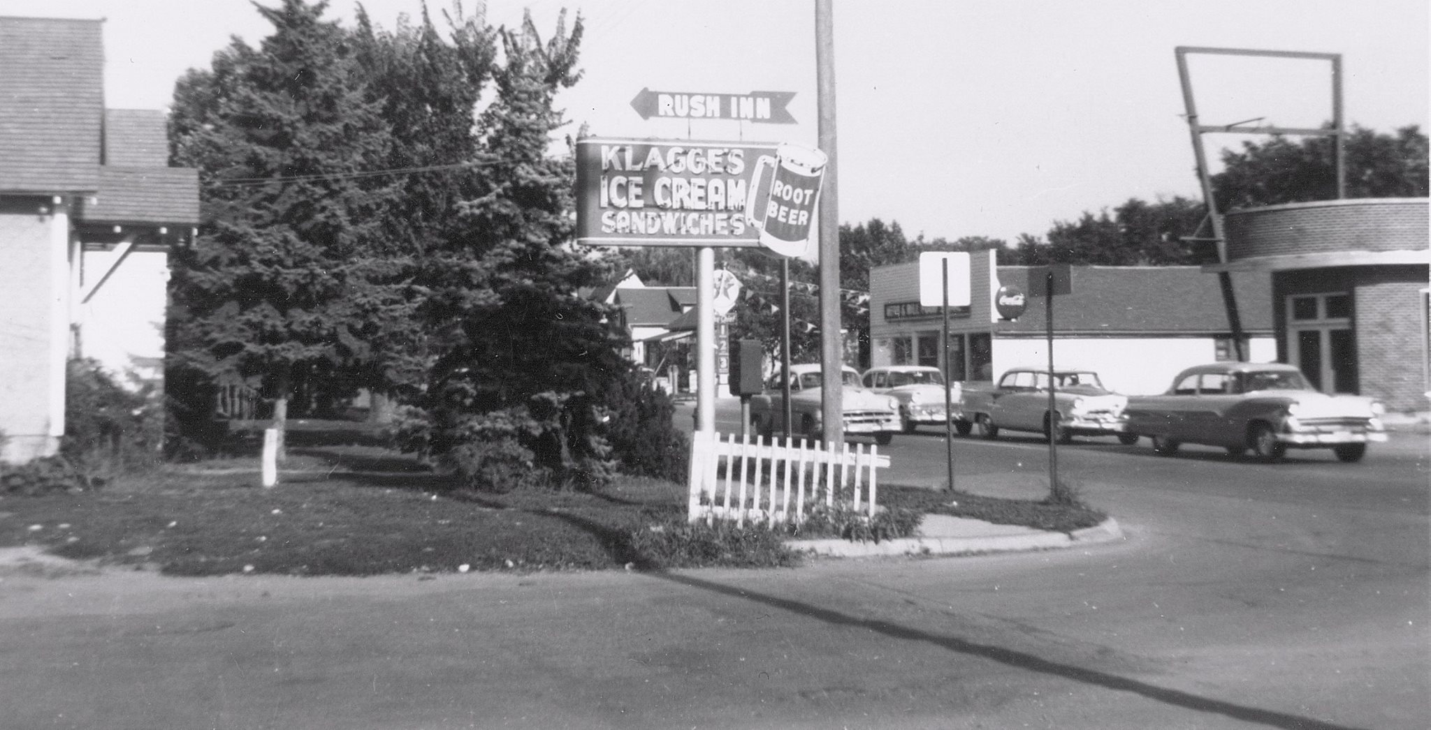 Oakland Ave. and 12th St. NW, where the Muffler Clinic is now located