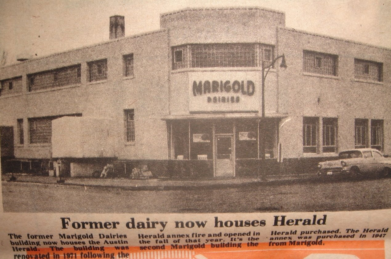 This building was located at the present site of the Austin Daily Herald Austin, Mn