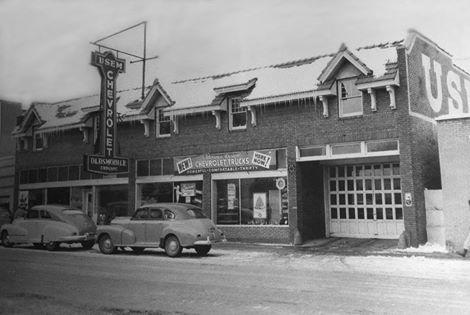 Usem Garage - 1944 (located at 215-221 E. Bridge St. - 2nd Ave NE)