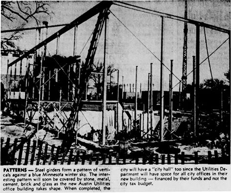 Utilities Office article - February 1st, 1961
