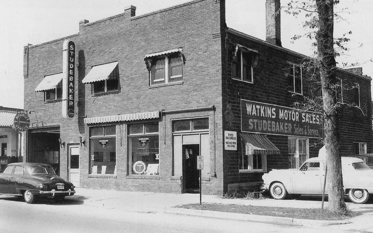 Watkins Motor Sales - early 1950's (located at 105 E. Oakland Ave.)
