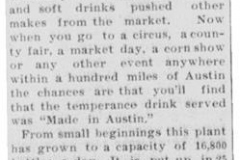 1911 Austin Bottling Works article - August 26th