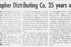 1972 Gopher Distributing Co. article - May 30th