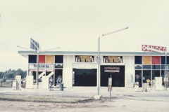 An old photo of Trimble's Cycle Center