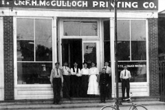 The F.H. McCulloch Printing Co. - 1910. (located at 200-202 N. Chatham St. - 1st St. N.E.)