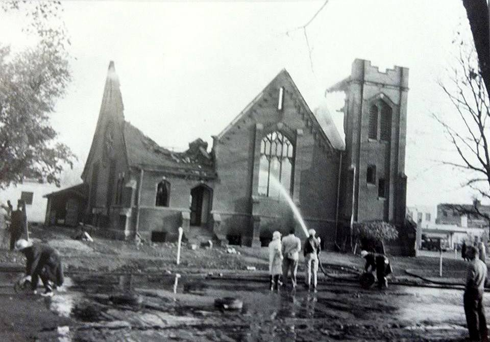 Central Presbyterian (burned in 1953 - located at 1st St. & 4th Ave N.W.) Austin, Mn