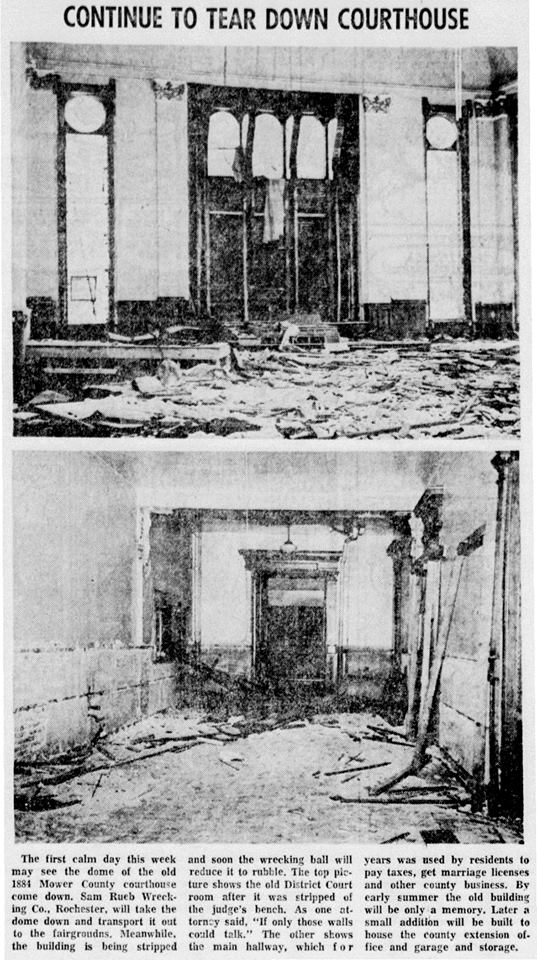 1967 Court House being torn down