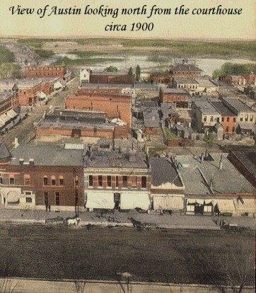 looking north from courthouse roof 1900s