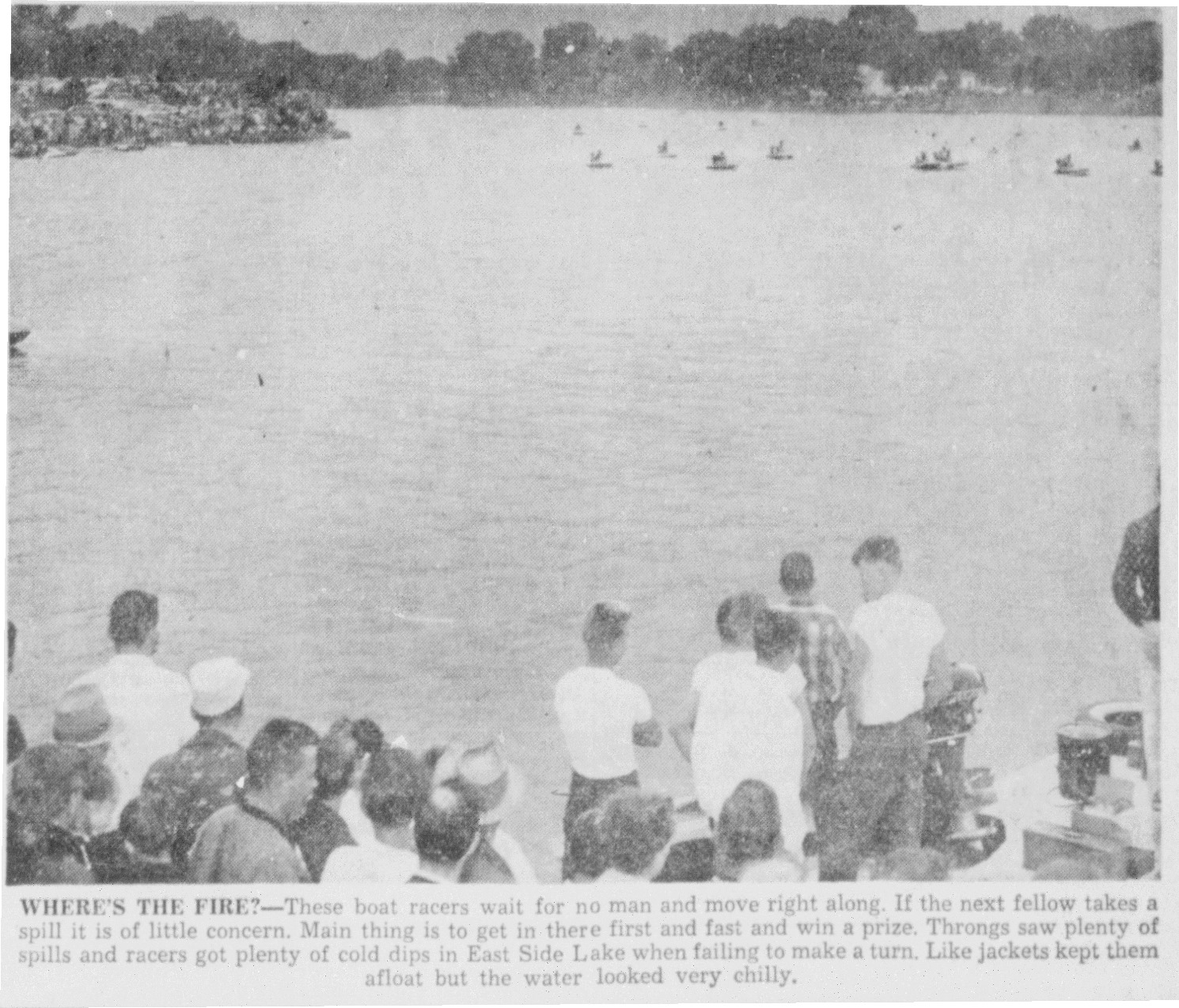 1956 4th of July Boat Racing on East Side Lake article - July 5th