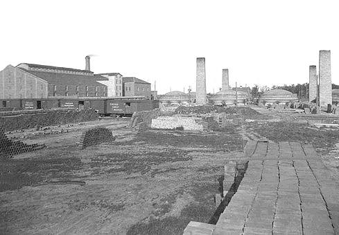Austin Clay Works early 1900s NE of old railroad yards