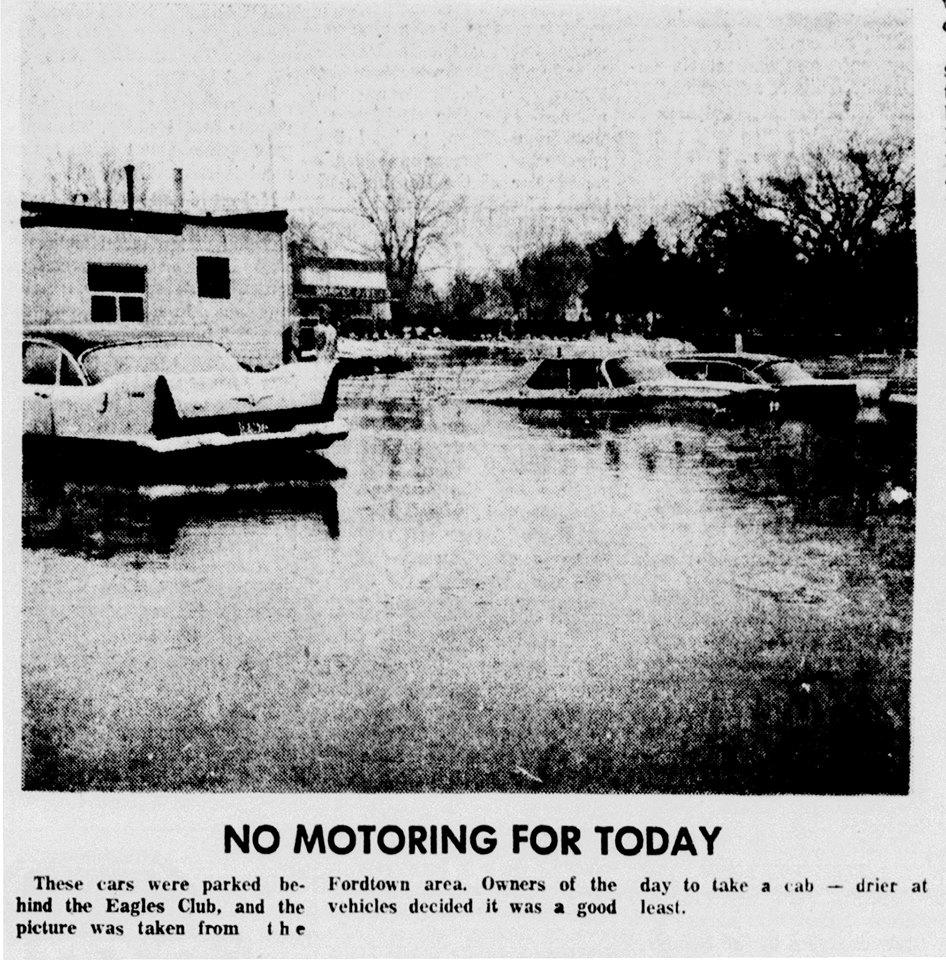 1965 Flood - March 2nd, 1965 (behind Eagles Club)
