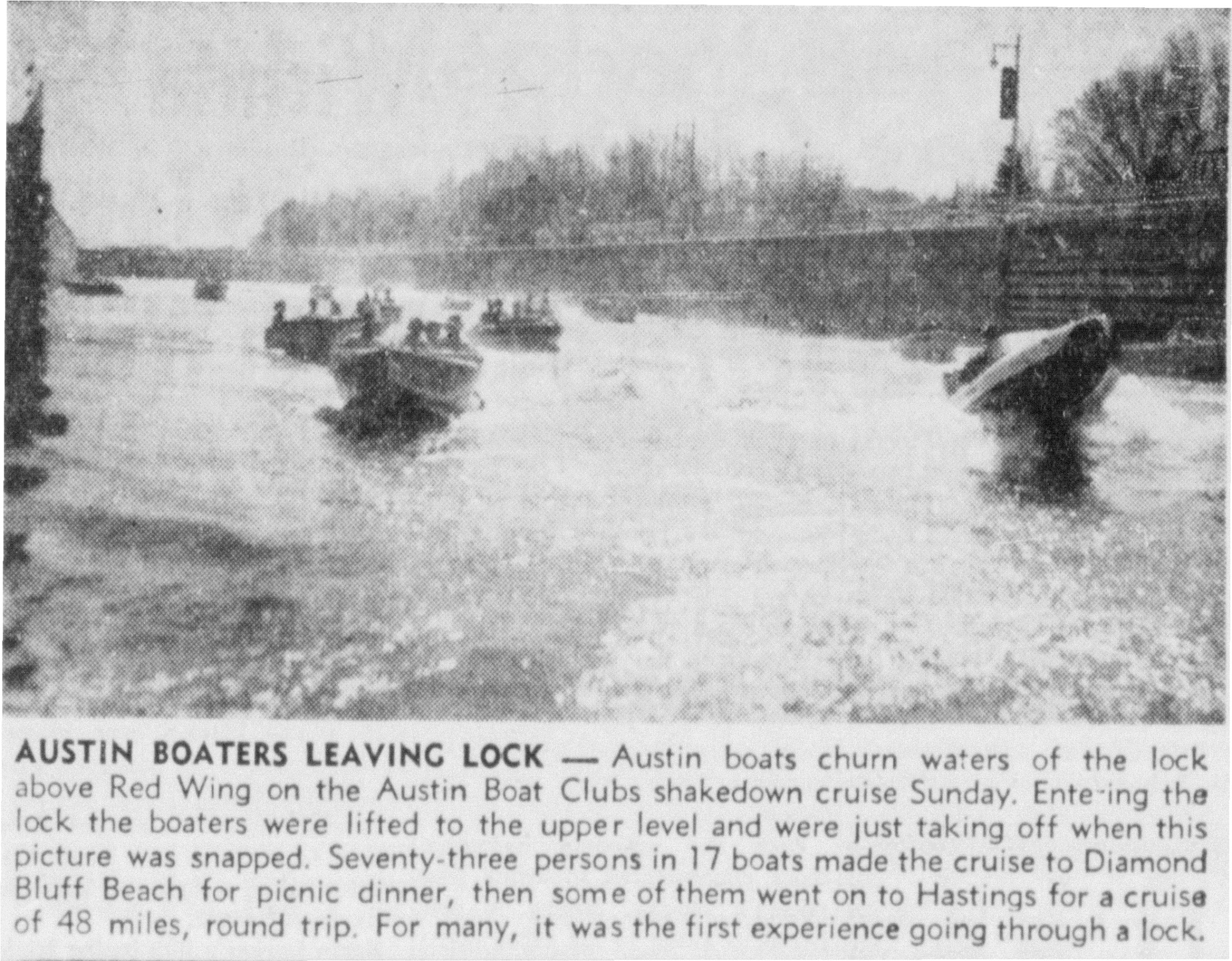 1957 Austin Boat Club article - April 30th