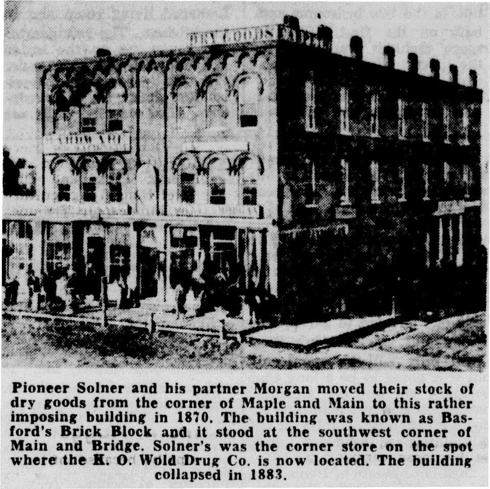 Basford's Brick Block Building article - October 7th, 1950