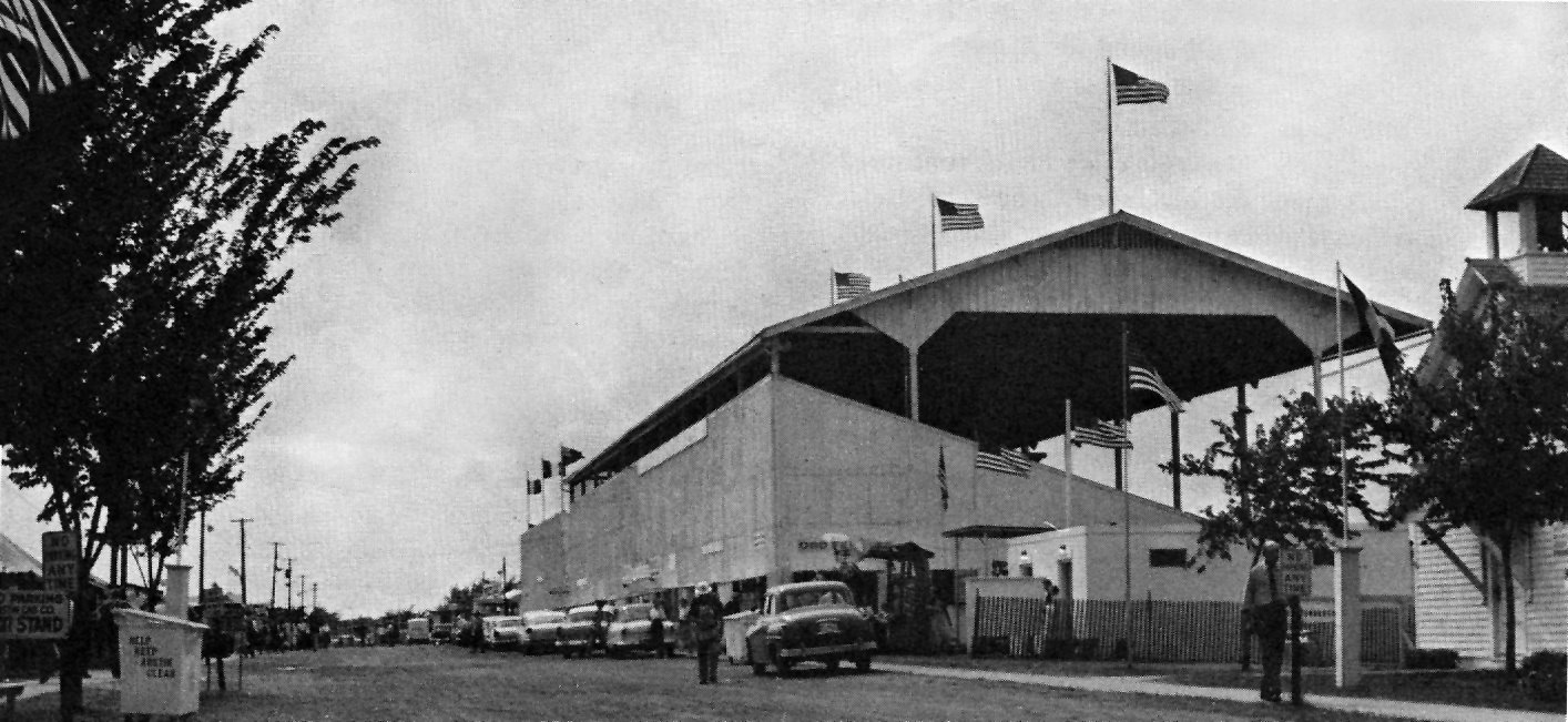 Grandstand in the 1950's Austin, Mn