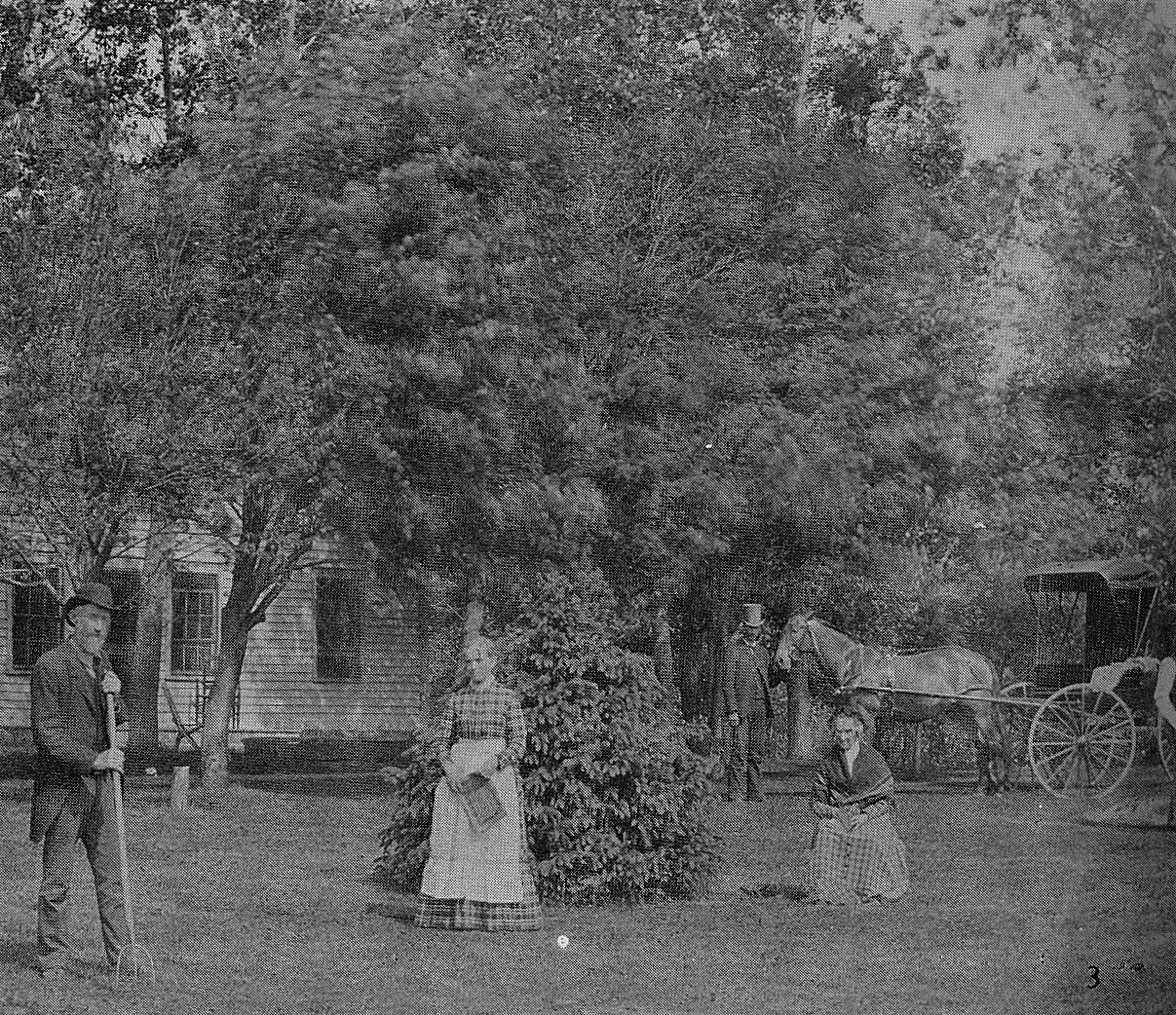 James M Sterling and his family at their farm which later became the site of The Sterling Shopping Center Austin, Mn