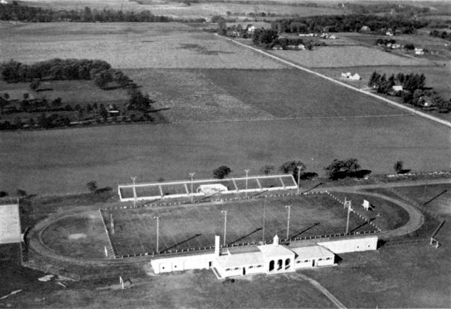 Looking over Wescott Field (towards the west) - 1948