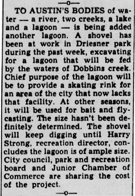 Skating Lagoon article - May 17th, 1951