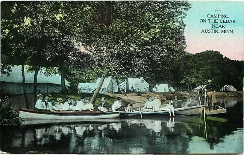 1910 Camping Near Austin, Mn