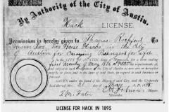 1895 Hack License article - November 9th, 1966