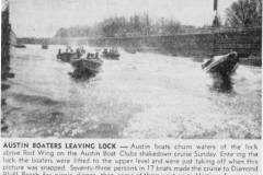 1957 Austin Boat Club article - April 30th