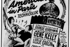 Leslie Caron Movie ad - December 7th, 1951