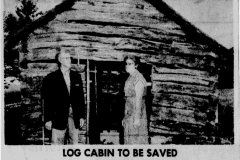 Log Cabin article - October 26th, 1963
