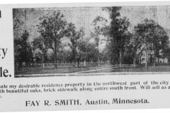 Property For Sale ad - April 15th, 1905