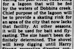 Skating Lagoon article - May 17th, 1951