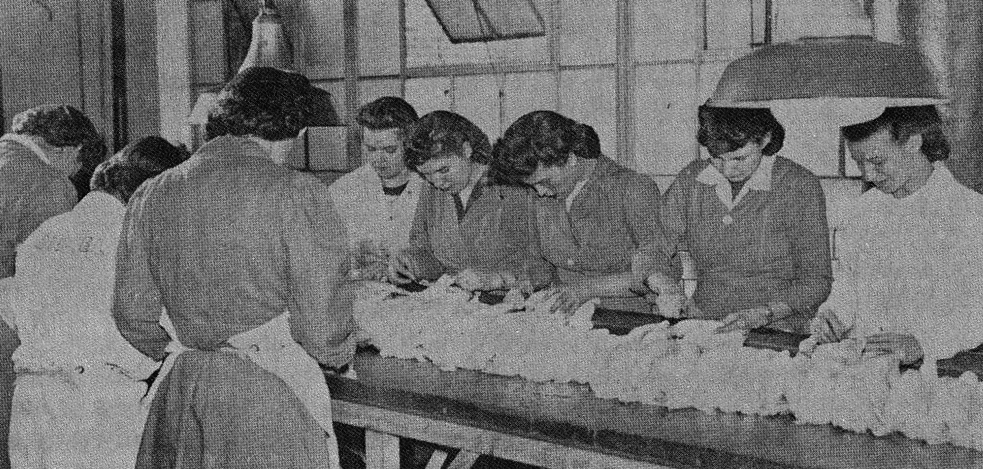 Women canning chicken at Hormel for The US Navy in The 1940's