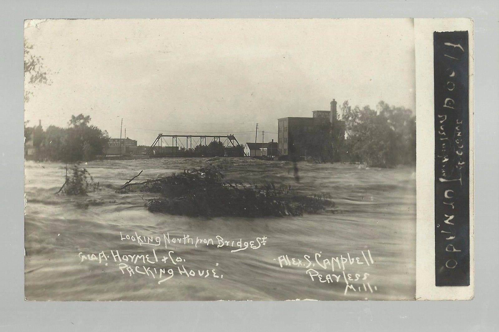 looking north bridge street hormel 1908