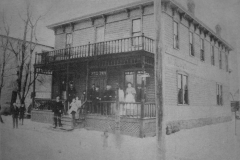 The Railway Eating House - late 1800's (located at 1027 E. Water St. - 4th Ave. N.E. - later became the Hotel Harrington in the early 1900's - now the site of the Ace Hotel)