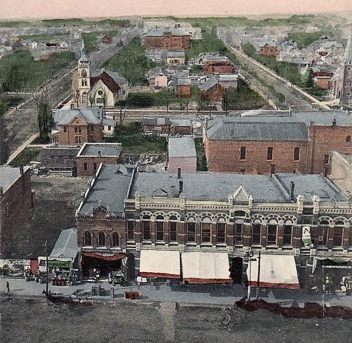 Aerial view of Austin 1908