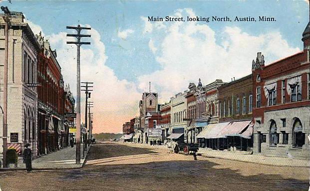 Main Street Looking North Austin, Mn