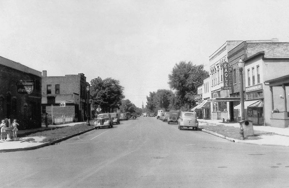 E. Water St. - 4th Ave. N.E. (looking towards the west from N. Railway St. - 10th St. N.E.)