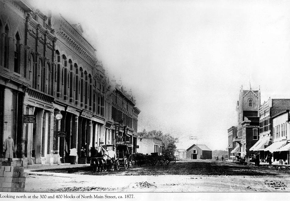 Main St. (looking north) - 1877 Austin, Mn