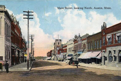 Main Street Looking North Austin, Mn
