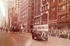 Cover photo is NY City parade 1947 SPAM post 570 leads their drum and bugle corps