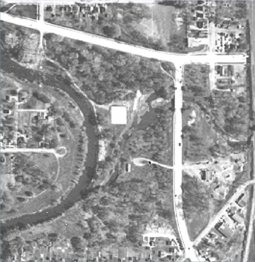 1951 aerial pic Skating Lagoon just before it was dredged out